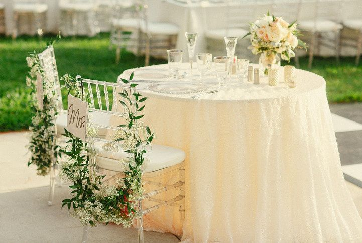 Outdoor sweetheart's table