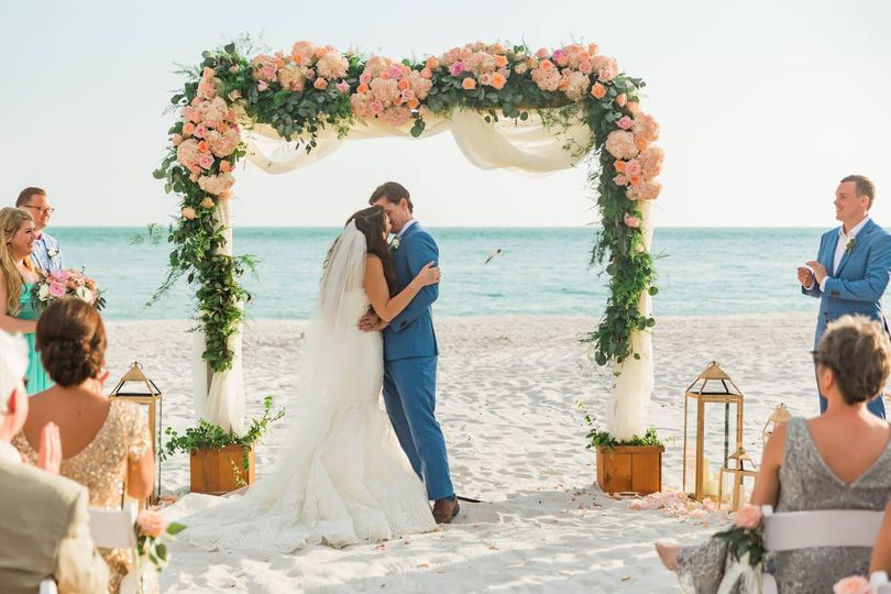 Beach Wedding Longboat Key arc