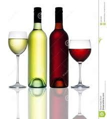 red and white wine image