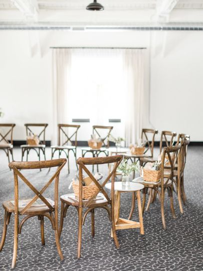 Rustic chairs | Photo Courtesy: Samantha James PhotographyEvent Design: Rhiannon Bosse Celebrations
