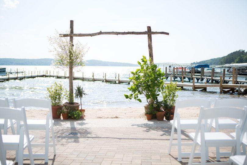 Waterfront wedding setup | Photo Courtesy: Kristin Finn Photography