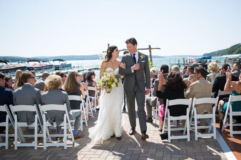 Wedding recessional | Photo Courtesy: Kristin Finn