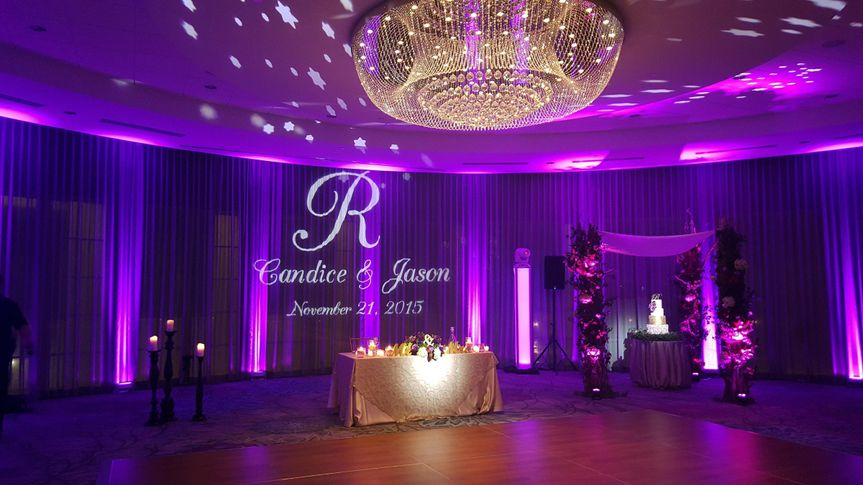 Prime Events and Productions Uplighting and Monogram Gobo