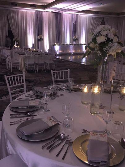 Chic grey & white wedding