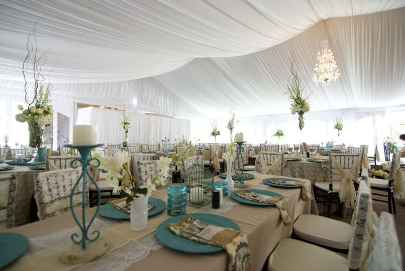 table setting tent liner