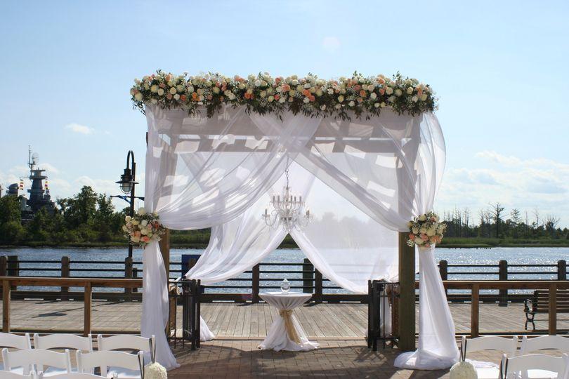 The wedding arch