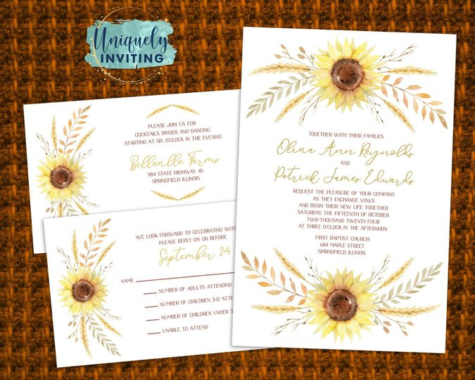 """Autumn Harvest"" Invitations"