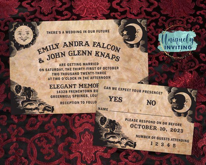 """Ouija Board"" Invitations"
