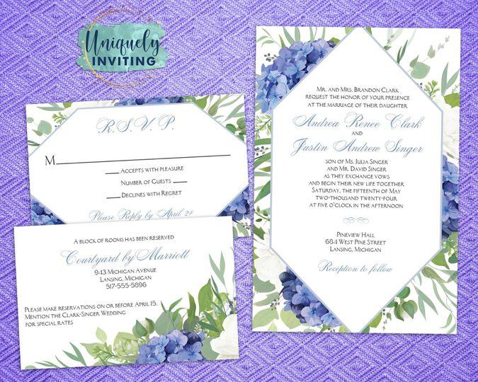 """Something Blue"" Invitations"
