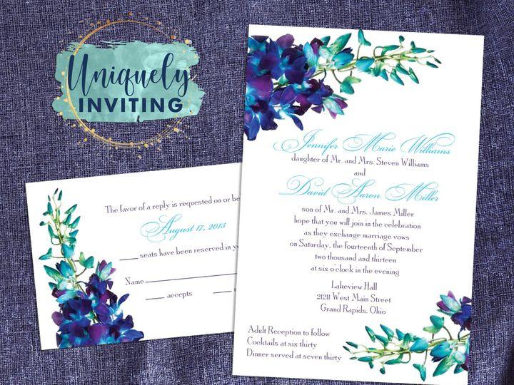 Tmx Blue Orchid Set 51 57880 158605031445056 Davenport, FL wedding invitation
