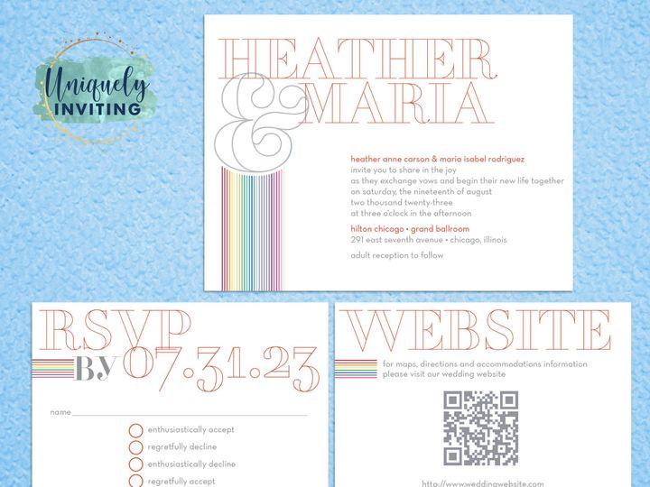 Tmx Rainbowoutlinedmonogram Set 51 57880 158605036116139 Davenport, FL wedding invitation