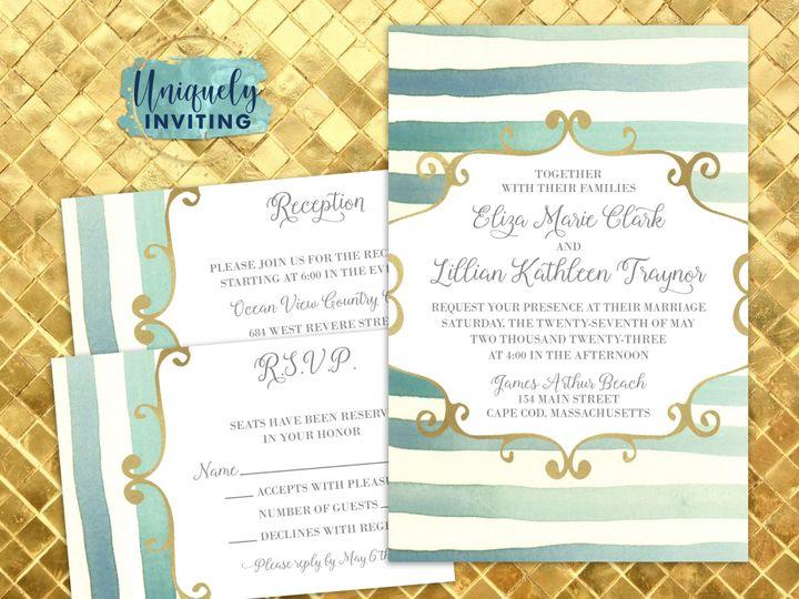 Tmx Softwatercolorstripesset 51 57880 158605037046959 Davenport, FL wedding invitation