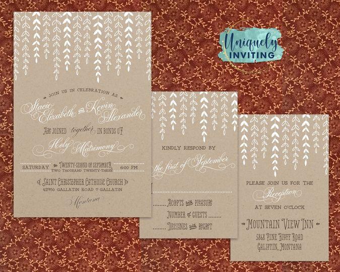 """Wonderful Willow"" Invitations"