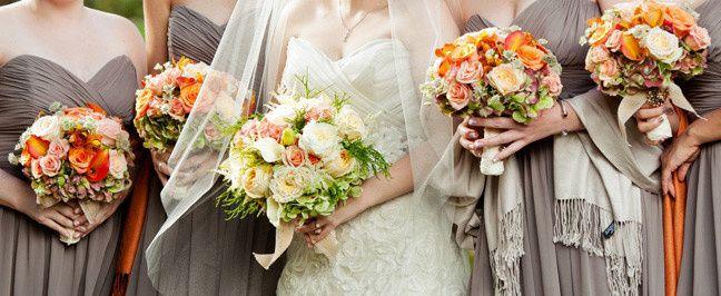 Tmx 1381774998367 Orange Bridesmaid Posh Floral Designs Oakdale, New York wedding florist