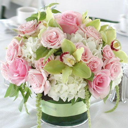 Tmx 1381781677706 Low Wedding Pastel Centerpiece Posh Floral Designs Oakdale, New York wedding florist