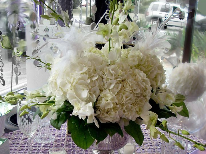 Tmx 1381781865126 Hydrangea Feather Wedding Centerpiece Oakdale, New York wedding florist