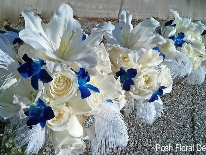 Tmx 1446054565320 Blu Orchid Feather Bouq Copy Oakdale, New York wedding florist