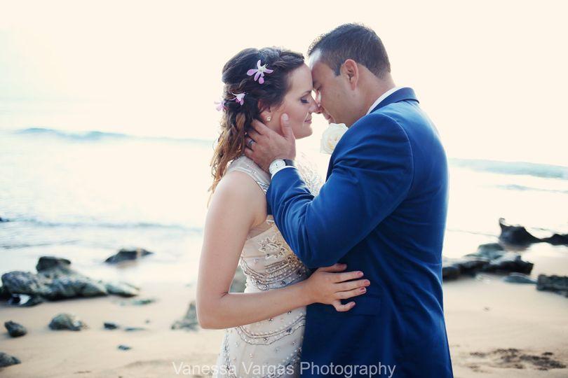 la copa llena beach wedding rincon
