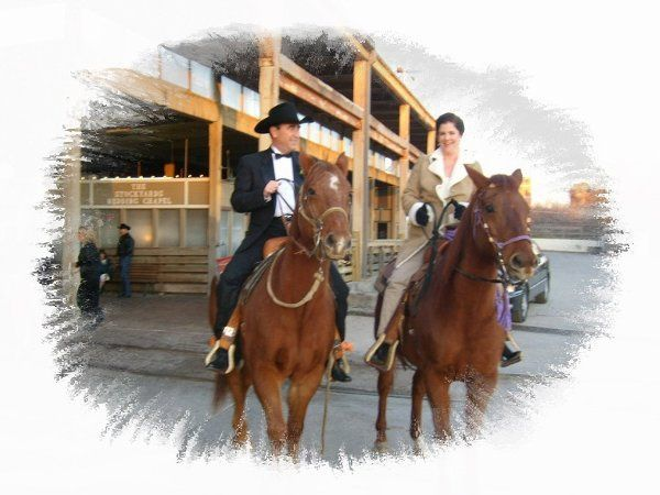 Happy Trails for the Bride and Groom  at The Stockyards of Fort Worth