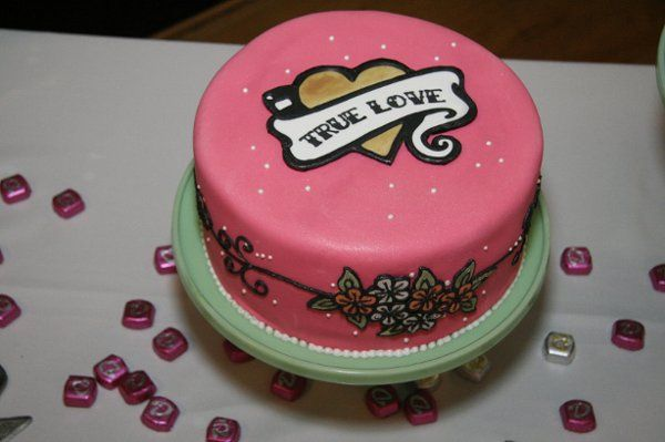 Tattoo wedding cake - True Love!