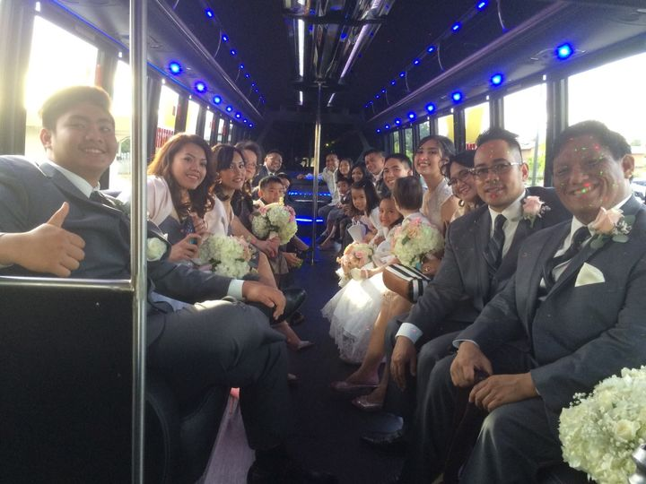 Wedding Party in 35 passengers Party Bus