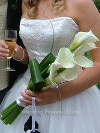 calla lily sheath bouquet