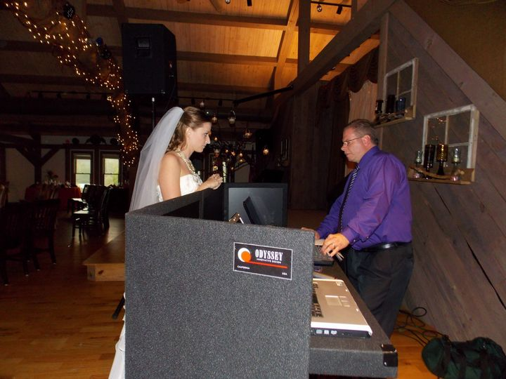 The bride and the DJ