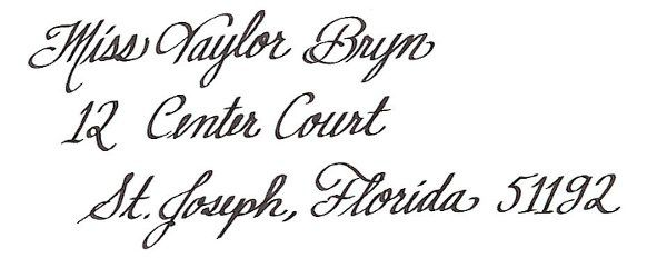 A handwritten font, with simple flourishes. It's very pretty and elegant and still easy to read....