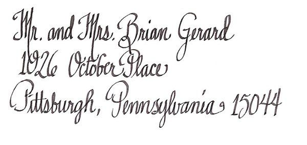 This font is long and lean. It is a simple handwritten font, but clean and easy to read.