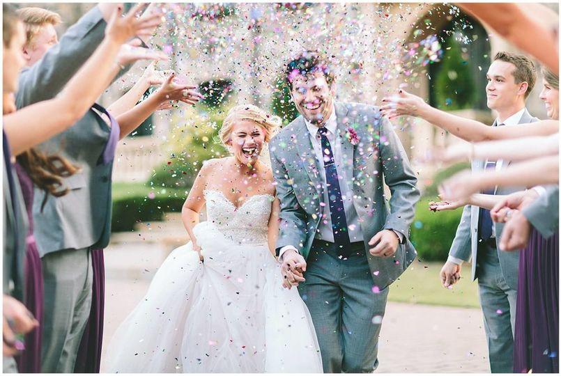 Newlywed couple at High Shoals