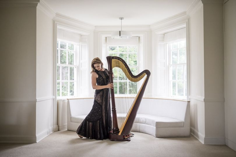 Chantal Dube the harpist