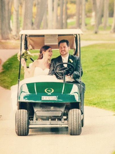 golf cart shot