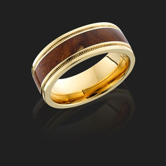 Gold and brown wedding band