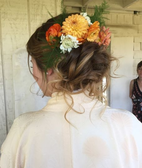Bridal hair dressing