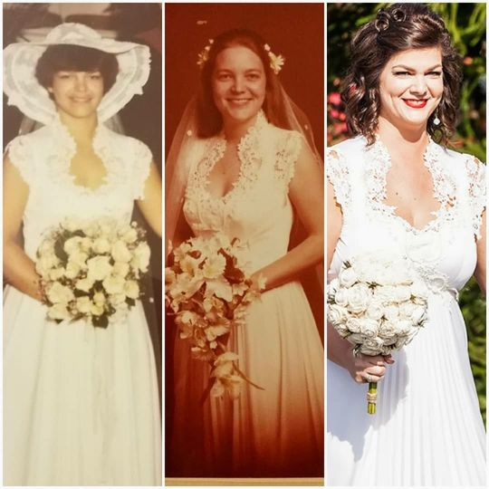 Vintage dress restoration and alterations