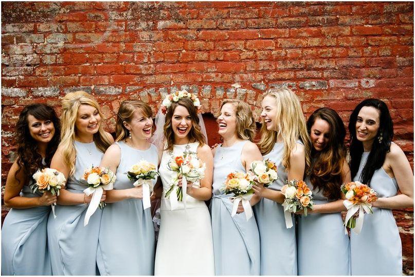 Custom bridesmaids dresses too