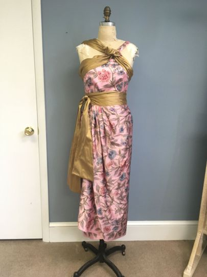 Custom 2 piece top and wrap skirt for mother-of-the-groom