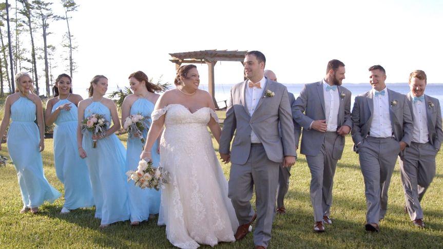 Happy wedding party