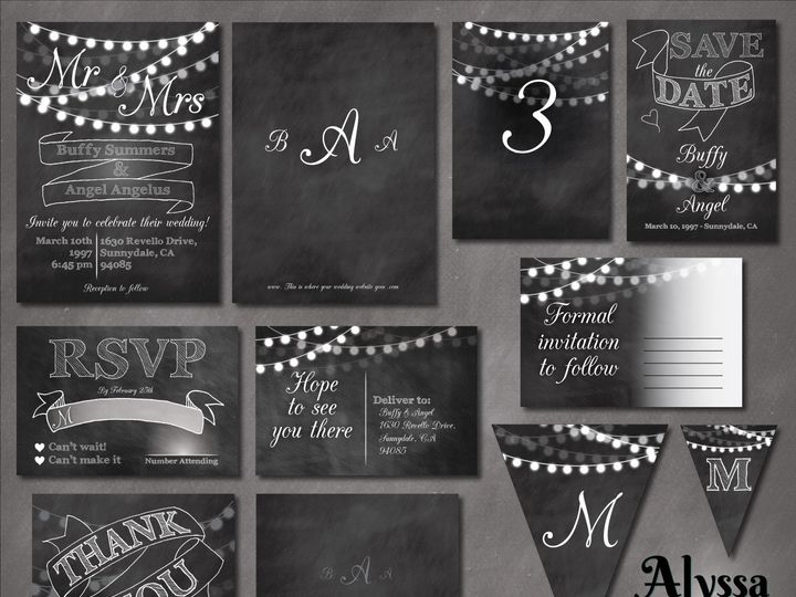 Tmx 1470957915070 Etsy Show Template Chalk 2 Forestville wedding invitation