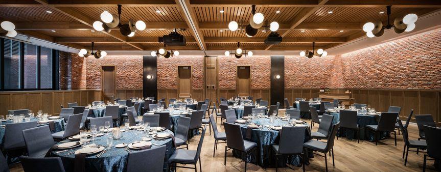 Blue reception tables