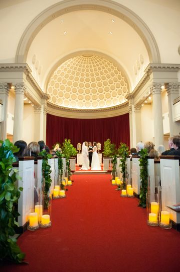 Main Chapel Wedding aisle