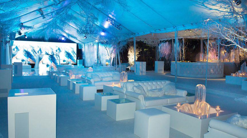 White reception area