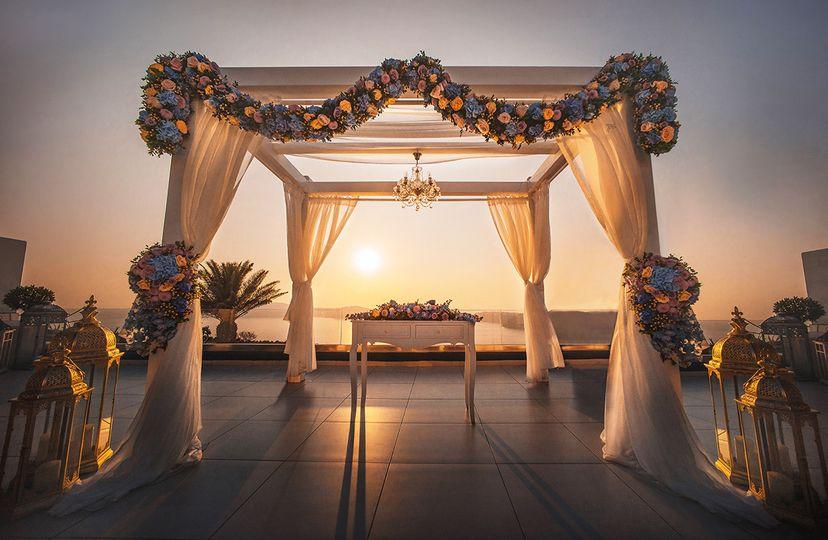 Luxury wedding gazebo