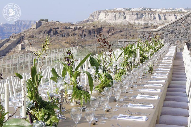 Signature destination wedding at Cavo Ventus, SantoriniHindu wedding of Sunita and Jay - Design by...