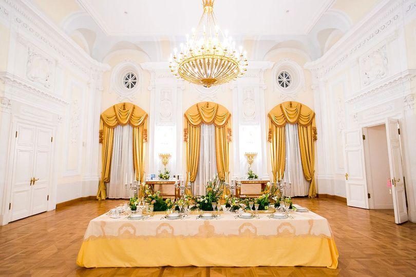 Yellow table setup