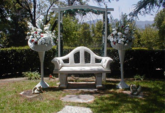 Garden weddings are an option. The garden will accommodate up to fifty guests.