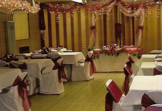 Chaffee Hall decorated for a wedding reception. The hall will accommodate up to 100 guests, and...