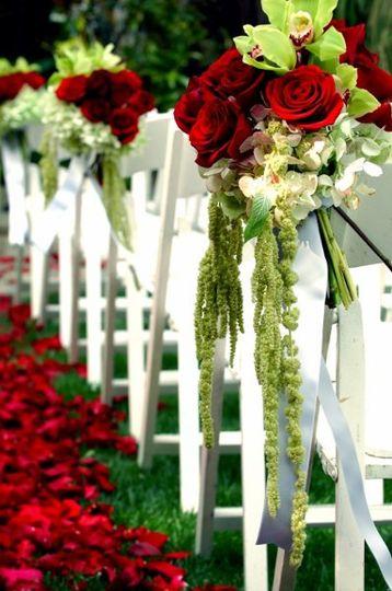 Floral aisle decoration