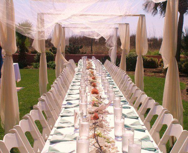 Canopy for Beach House Wedding