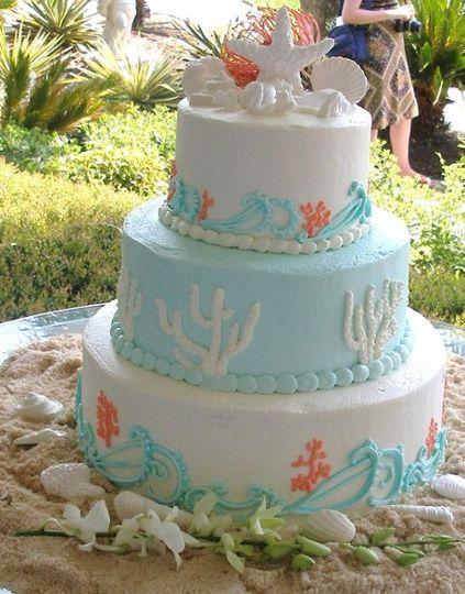 Beach Wedding Cake (Designed by the Bride)